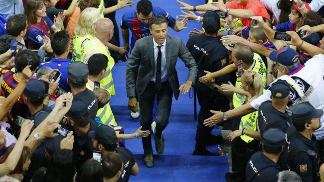 Luis Enrique sube a por la Copa del Rey.
