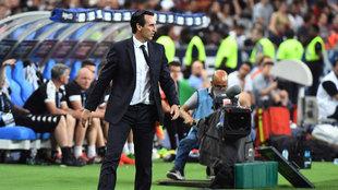 Emery durante la final de la Copa de Francia contra el Angers