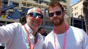 El famoso actor de Thor, Chris Hemsworth.
