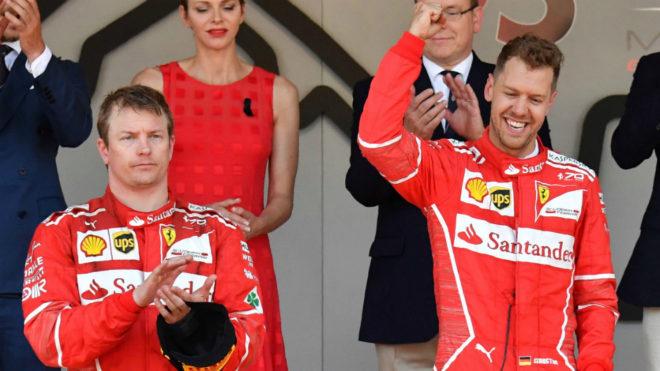 Raikkonen y Vettel.