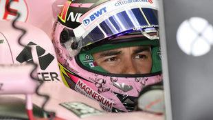 Así luce el 'tapatío' en su Force India.