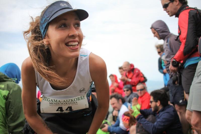 Sheila Avilés, en la carrera.