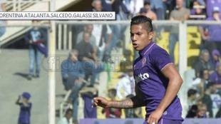 Salcedo, en un partido con la Fiorentina.