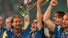 La Juve celebra su segunda Champions con la camiseta azul