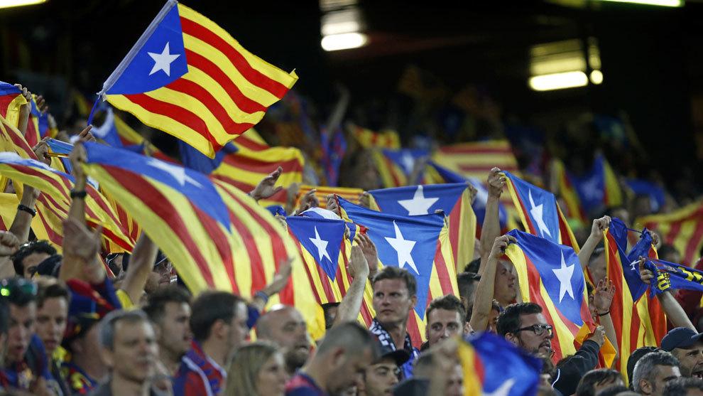 Aficionados del FC Barcelona durante el partido de Copa del Rey