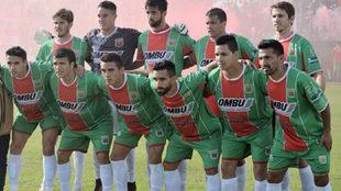 Un once de Agropecuario, que ascendió a Segunda división.