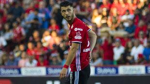 Guido Rodríguez durante las semifinales del C2017.