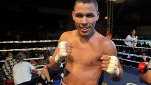 Alberto Beltrán, en un combate.