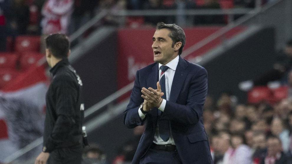 Valverde dirigiendo a su exequipo, el Athletic