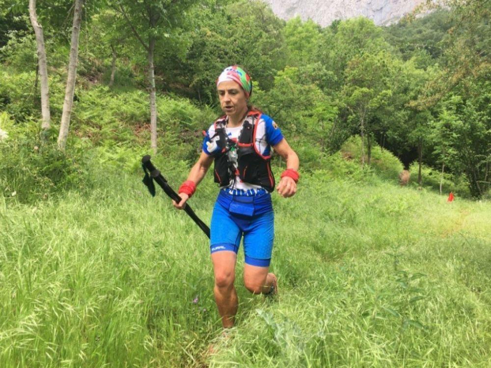 Aitziber Osinalde, en carrera.