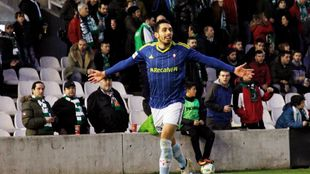 Borja Iglesias (24) celebra un gol
