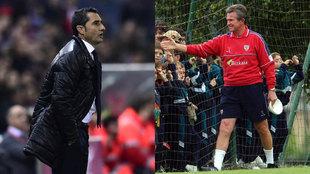 Valverde y Heynckes en el Athletic