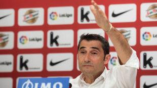 Valverde, en su despedida del Athletic.