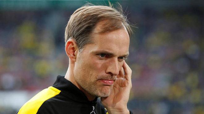 Thomas Tuchel, en un partido del Borussia Dortmund.