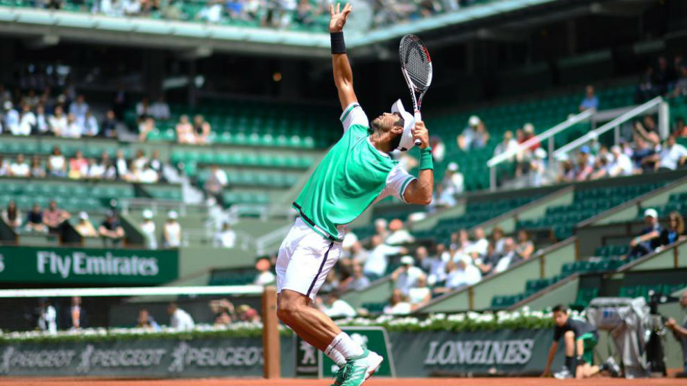 Verdasco se dispone a sacar