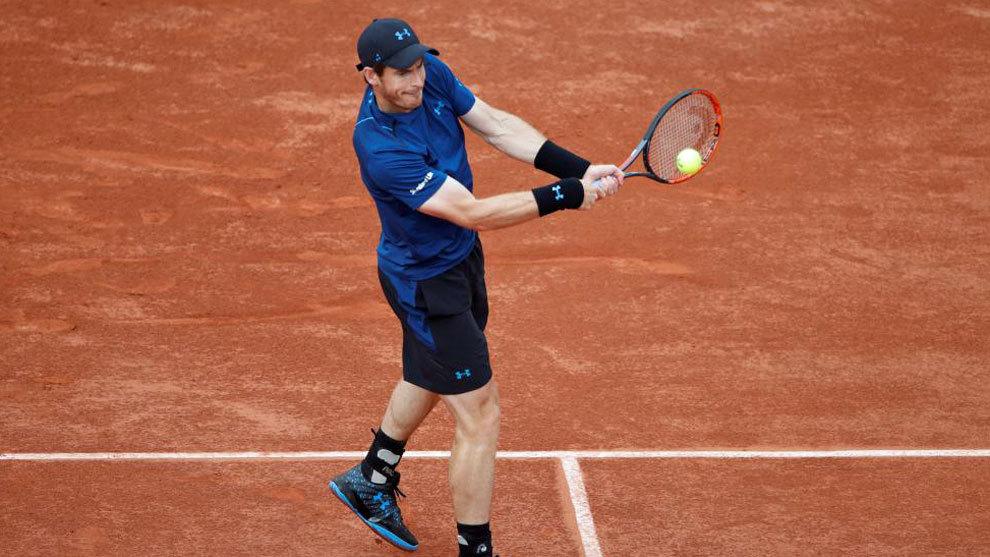Murray, durante su partido contra Kuznetsov