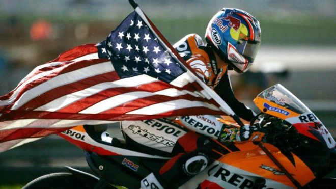 Nicky Hayden, en Valencia 2006.