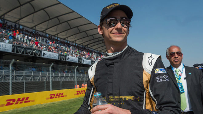 'Guti' durante la carrera de la Fórmula E disputada en México.