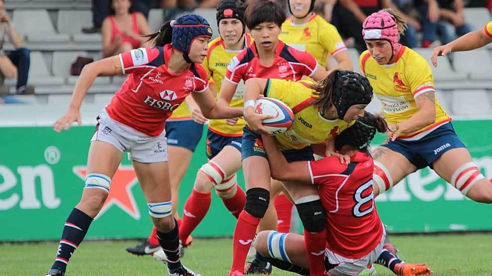 Una imagen del partido disputado en el Pepe Rojo entre España y Hong...