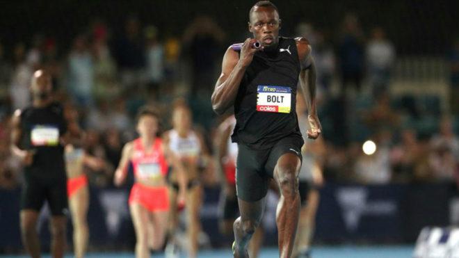 Usain Bolt durante una carrera en Melbourne el pasado 4 de febrero.