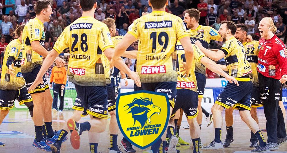 Los jugadores del Rhein-Neckar Löwen celebran el título de Liga