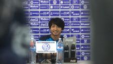 Gaku Shibasaki (25), durante la entrevista que concedi� ayer a MARCA