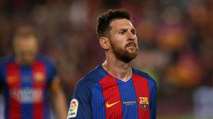 Messi durante el �ltimo partido de Liga frente al Eibar