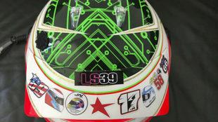 El casco de Antonio Felix da Costa con el que corri� las 24 Horas de...