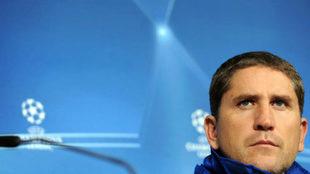 Garrido durante una rueda de prensa en el Allianz Arena de Munich.