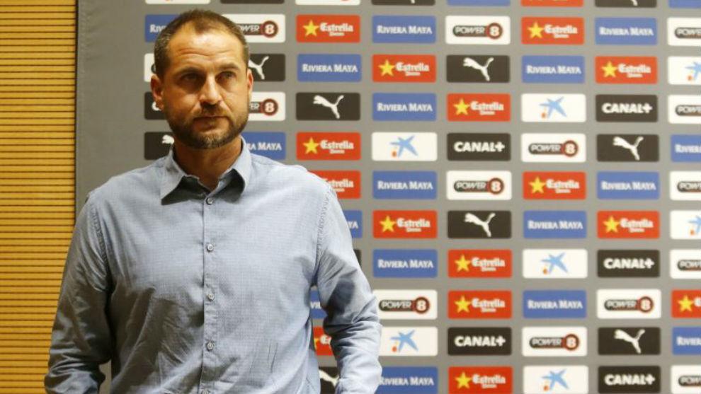 Óscar Perarnau, durante una rueda de prensa.