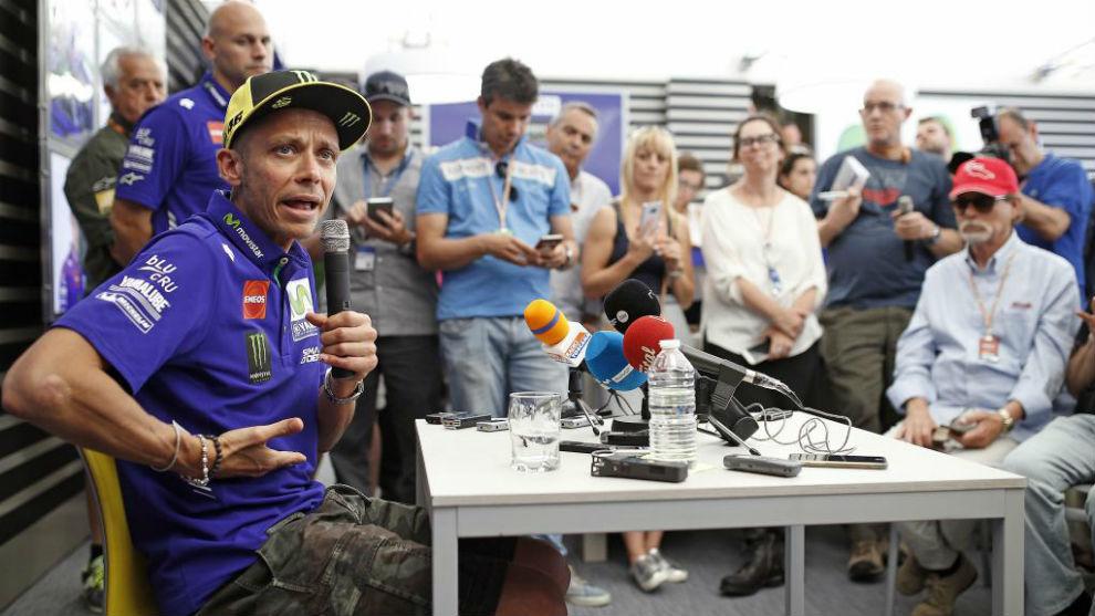 Rossi, durante la rueda de prensa de hoy en Mugello.