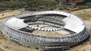 Imagen aérea del Wanda Metropolitano.