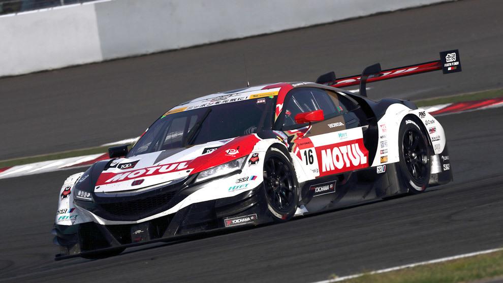 El NSX-GT del equipo Mugen que pilotará Button, en acción