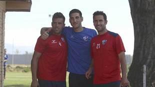 Carlos David, Sergio Herrera e Íñigo López, durante el...