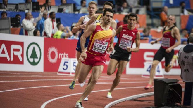 Kevin López en el Campeonato de Europa Indoor de este año.