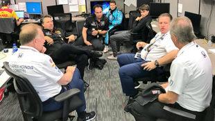 Zak Brown, en una reunión con Andretti Autosport, en la Indy 500.