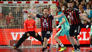 Cindric, tras lograr el gol del triunfo del Vardar.