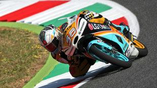 El español Juanfran Guevara pilota su KTM en Mugello.