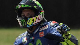 Valentino Rossi, al acabar la carrera