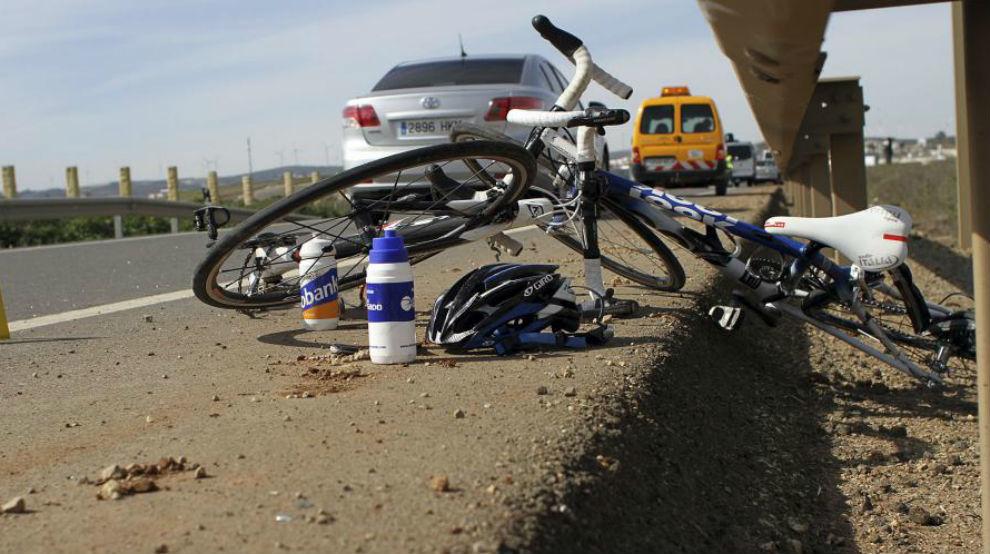 Imagen de archivo de accidente ciclista.