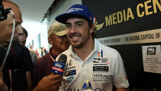 Fernando Alonso, durante su participación en las 500 Millas de...