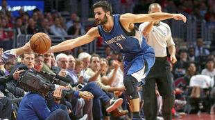 Ricky Rubio (Timberwolves) en un partido contra Los Ángeles Clippers