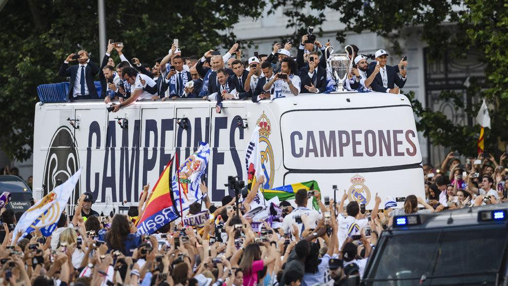 Celebración del Real Madrid en Cibeles