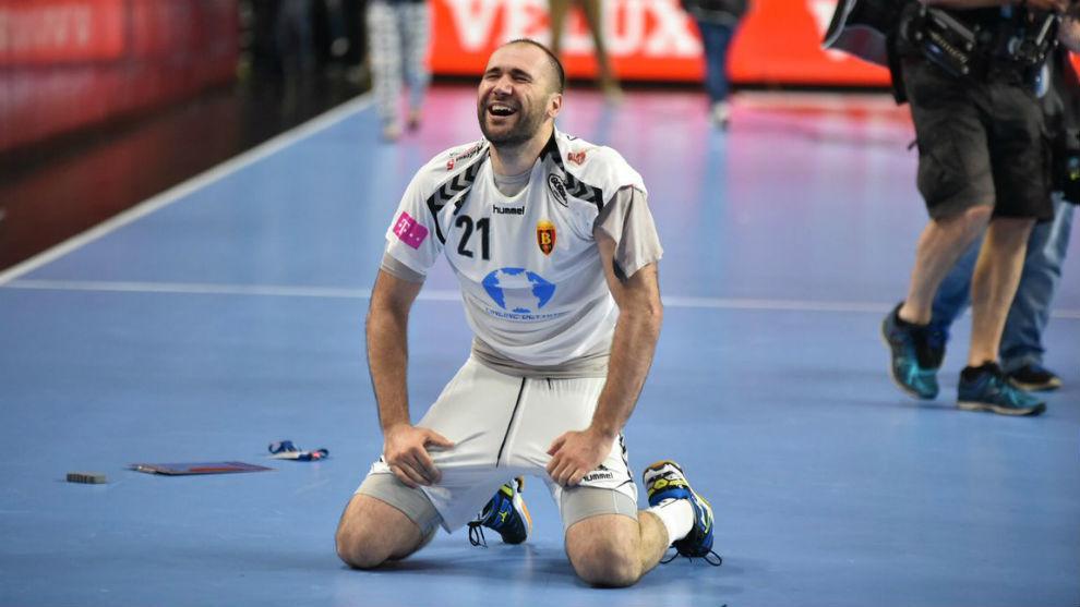 El jugador español, al término de la final.