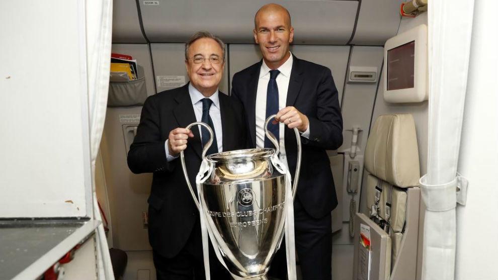 Florentino y Zidane con la Duodécima