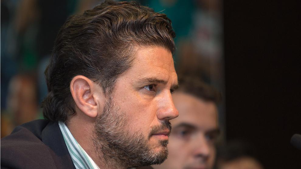 Alejandro Irarragorri durante una conferencia de prensa.