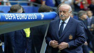 Vicente del Bosque durante la Eurocopa de Francia