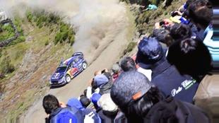 Ogier, durante el Rally de Portugal