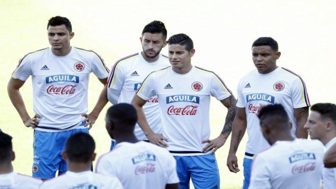 La selección de Colombia se prepara para medirse a España
