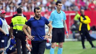 Diego Martínez, en un partido con el filial sevillista.